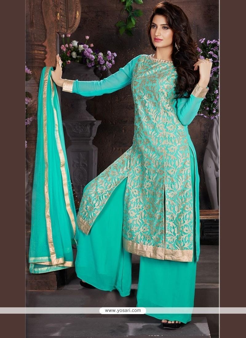 f7c38f1ca82 Buy Divine Net Lace Work Designer Palazzo Salwar Kameez