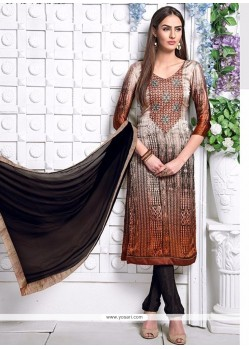 Sumptuous Satin Churidar Designer Suit