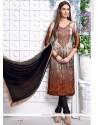 Sumptuous Satin Churidar Designer Suit