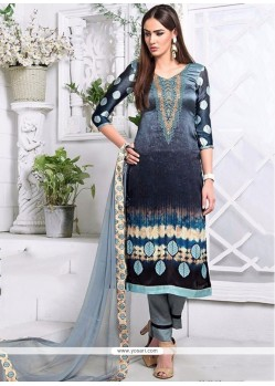 Graceful Embroidered Work Churidar Designer Suit