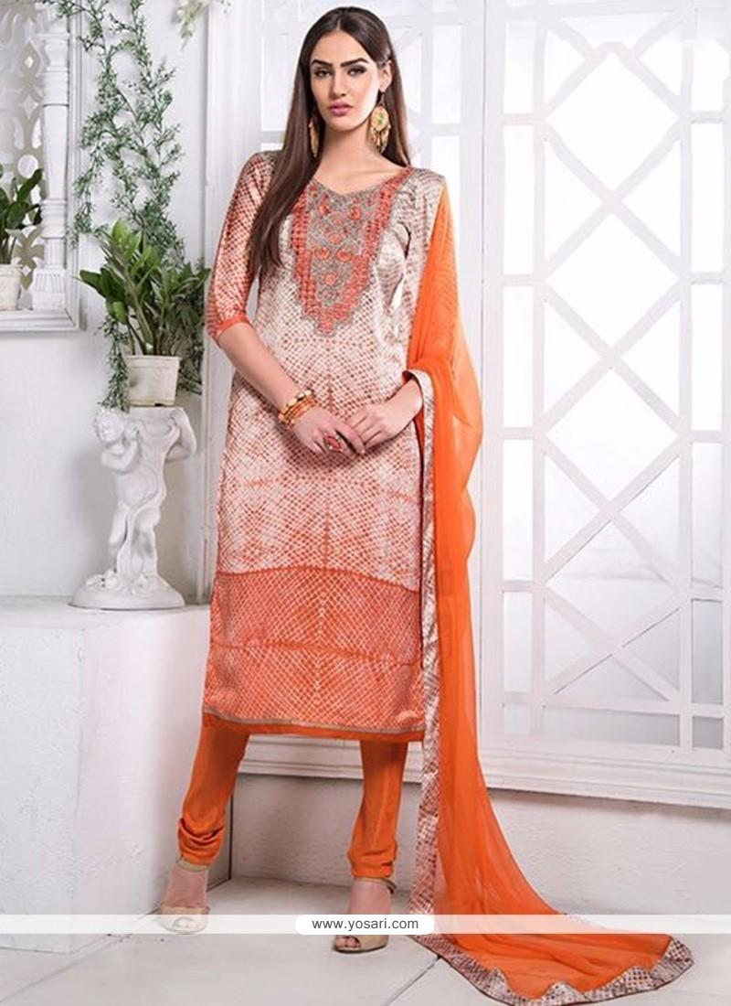 Masterly Multi Colour Churidar Designer Suit
