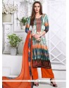 Exquisite Embroidered Work Satin Designer Palazzo Salwar Kameez