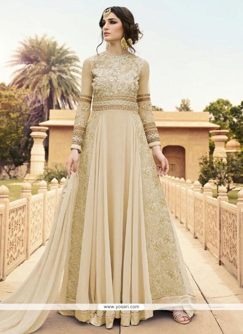 Sumptuous Georgette Designer Floor Length Suit