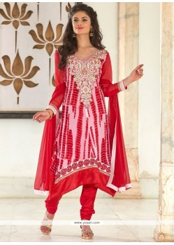 Remarkable Georgette Resham Work Churidar Designer Suit