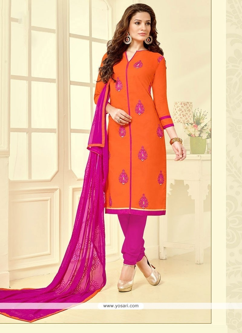Invigorating Cotton Churidar Suit