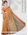 Distinctively Patch Border Work Casual Saree