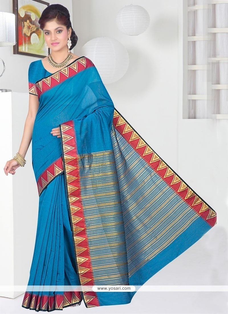 Sumptuous Blue Casual Saree