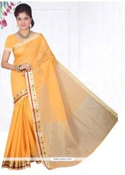 Versatile Cotton Silk Yellow Casual Saree