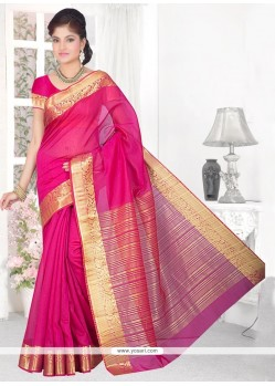 Adorning Cotton Silk Patch Border Work Casual Saree