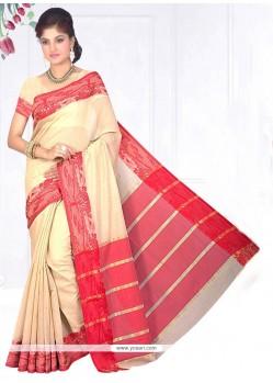 Aesthetic Cotton Silk Beige Casual Saree