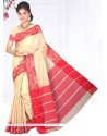Aesthetic Cotton Silk Beige Casual Saree