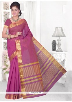 Strange Cotton Silk Patch Border Work Casual Saree
