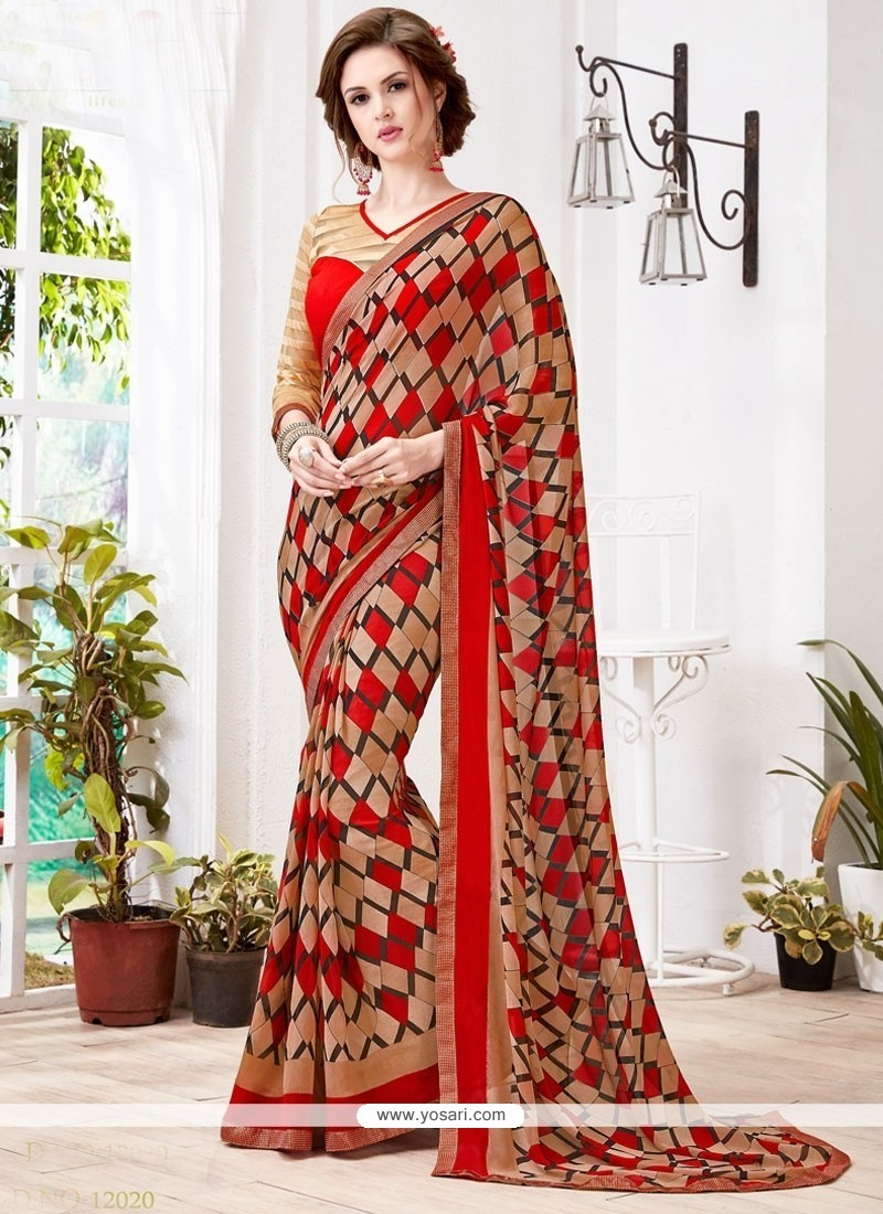 Lovable Printed Saree For Party