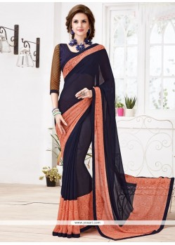 Impeccable Print Work Casual Saree
