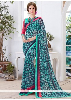 Extraordinary Print Work Casual Saree