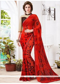 Especial Print Work Casual Saree