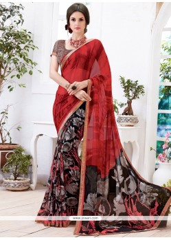 Charming Multi Colour Printed Saree