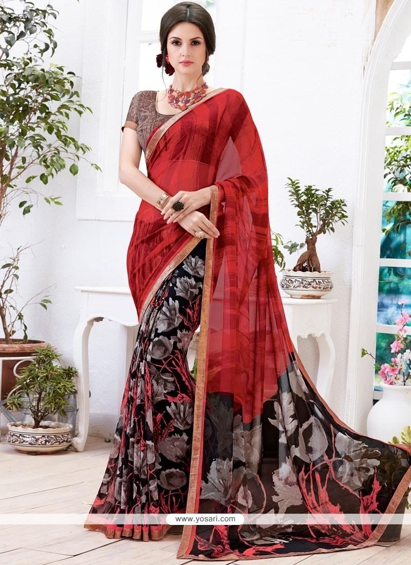 Charming Multi Colour Printed Saree