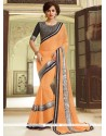 Especial Georgette Orange Classic Saree