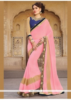 Appealing Georgette Embroidered Work Traditional Saree
