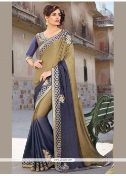 Extraordinary Embroidered Work Crepe Jacquard Traditional Designer Sarees