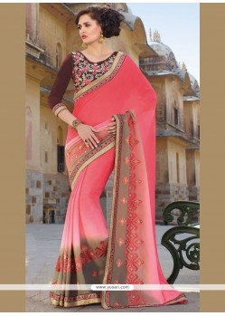 Sunshine Patch Border Work Traditional Saree