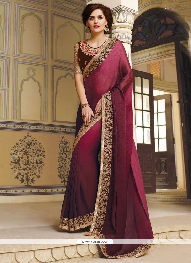 Divine Jacquard Patch Border Work Traditional Saree