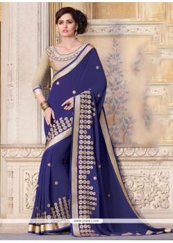 Sparkling Patch Border Work Designer Traditional Sarees