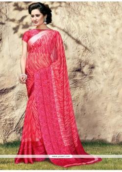 Distinctive Georgette Print Work Printed Saree