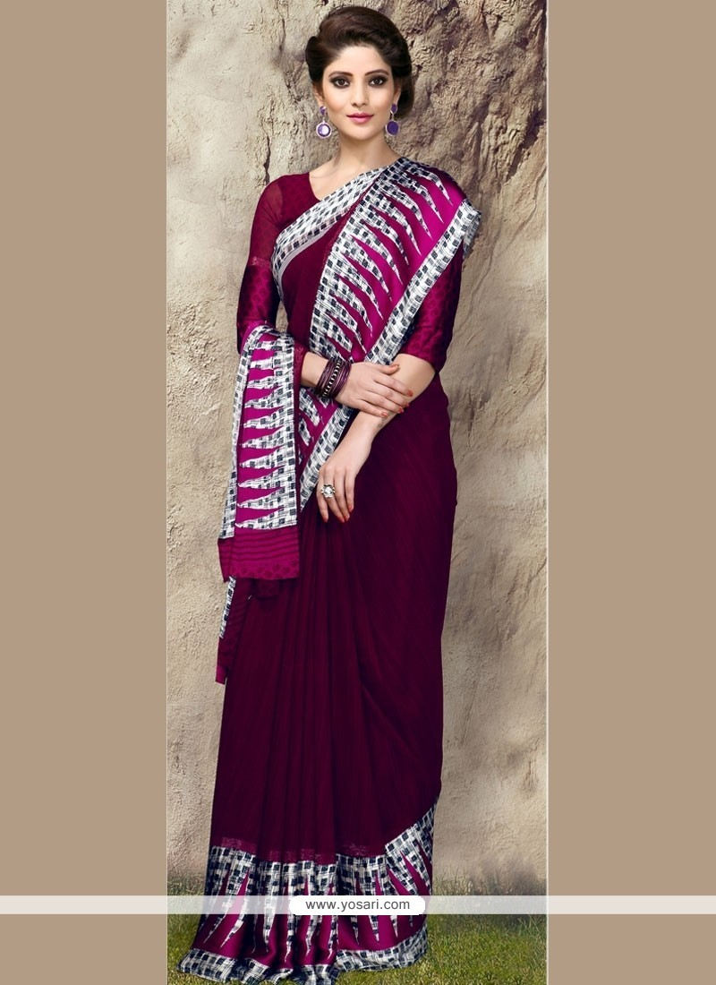 Affectionate Georgette Printed Saree