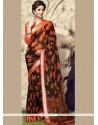 Trendy Print Work Printed Saree