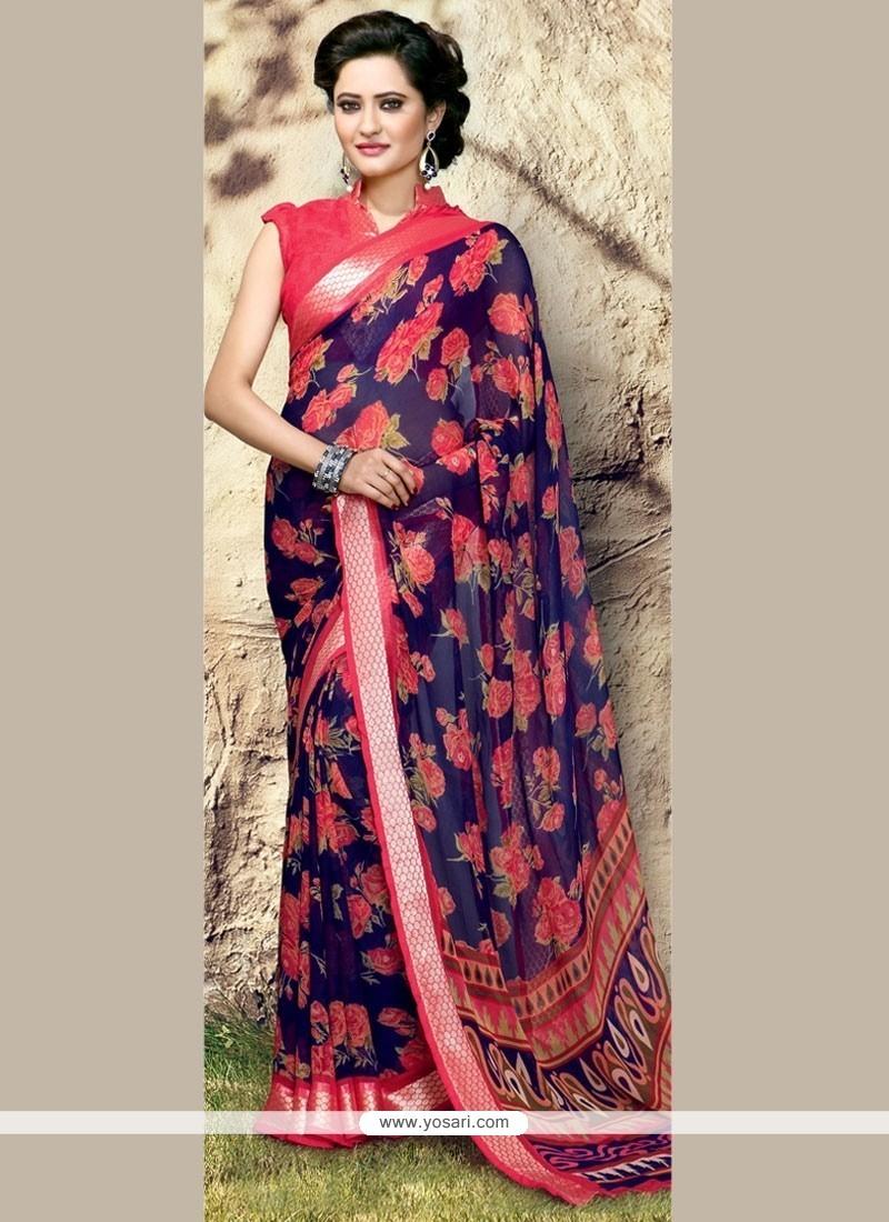 Opulent Print Work Printed Saree
