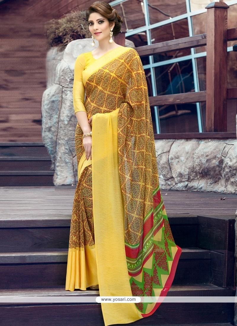 Remarkable Multi Colour Print Work Printed Saree