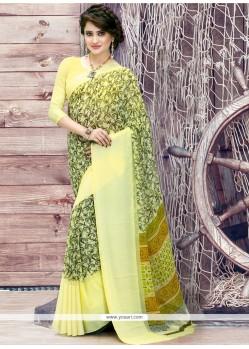 Voluptuous Georgette Multi Colour Print Work Printed Saree