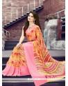 Flawless Multi Colour Print Work Georgette Printed Saree