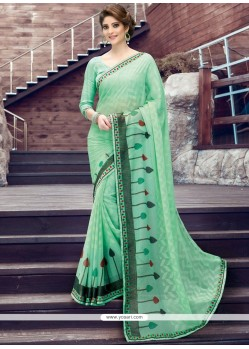 Awesome Print Work Printed Saree
