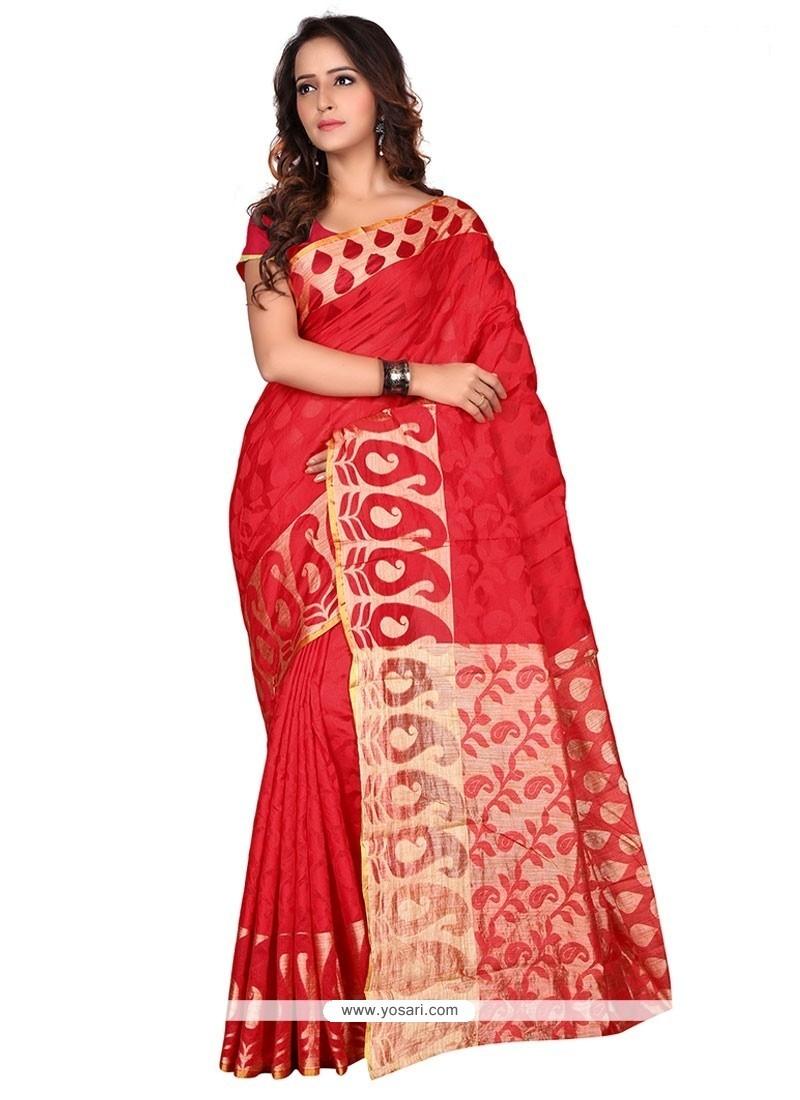 Exotic Print Work Banarasi Silk Casual Saree