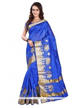 Subtle Print Work Banarasi Silk Casual Saree