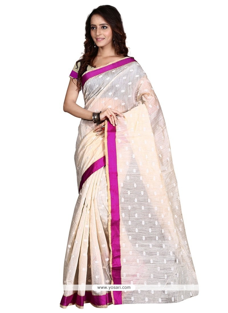 Gleaming Patch Border Work Casual Saree