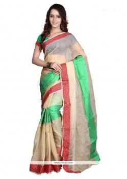 Astonishing Banarasi Silk Multi Colour Print Work Casual Saree