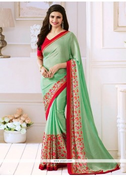 Prachi Desai Green Bollywood Saree