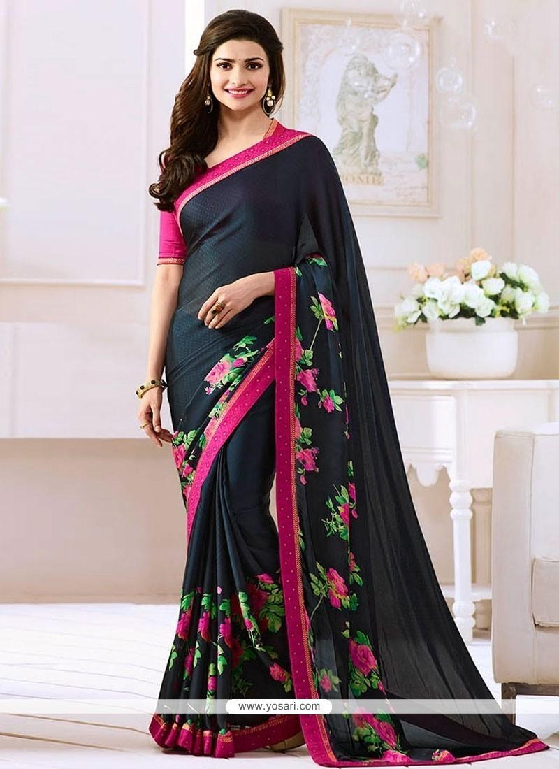 068d8e80de40b0 Buy Prachi Desai Bollywood Saree | Casual Sarees