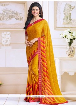 Prachi Desai Yellow Bollywood Saree