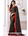 Prachi Desai Black Satin Bollywood Saree