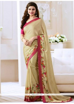 Prachi Desai Beige Bollywood Saree