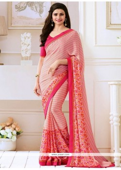 Prachi Desai Print Work Bollywood Saree