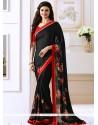 Prachi Desai Print Work Black Bollywood Saree