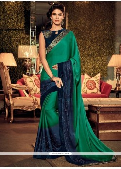 Glossy Silk Sea Green Traditional Designer Sarees
