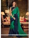 Glossy Silk Sea Green Traditional Designer Sarees