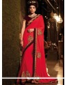 Sensational Embroidered Work Traditional Saree
